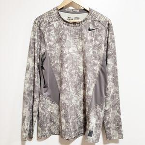NIKE Men Pro Fitted Dri-Fit Long Sleeve Shirt
